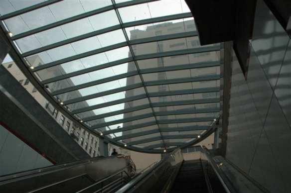 Pershing Square Station Canopy. Photo by Jose Ubaldo/Metro.
