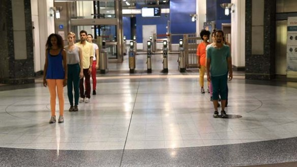Dancers rehearse in preparation for Red Line Time performances on April 5 and 6. Photo: Natalie Metzger