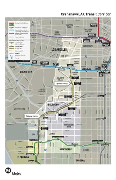 Click above to see larger. Note: the Metro Board decided in May to build the Leimert Park and Hindry stations.