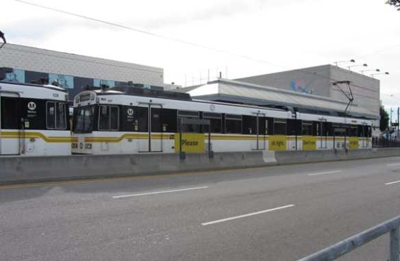 Existing train designs, featured on the Blue and Expo Lines.