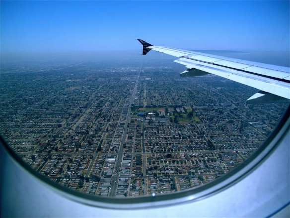 Sprawl as seen from an airplane. Photo by Premshee Pillai, via Flickr creative commons.