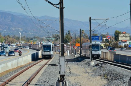 A view east from the end of the Sierra Madre Villa platform.