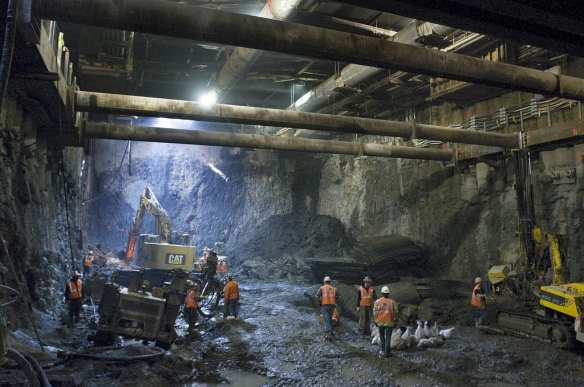 A photo of work on the Second Avenue Subway from 2009. Photo by Patrick Cashin/MTA.