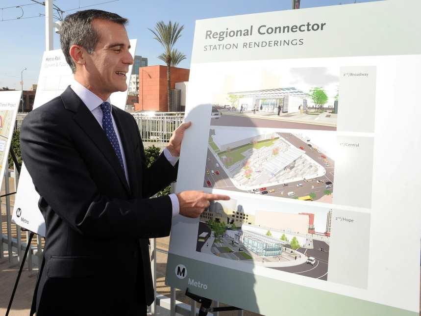 L.A. Mayor Eric Garcetti.