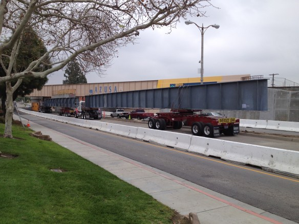 Photo: The bridge over Foothill Boulevard in Azusa. Metro Gold Line Foothill Extension Construction Authority.