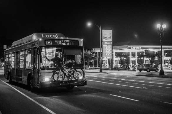 ART OF TRANSIT: The Metro 181 on Colorado Boulevard in Pasadena. Photo by Steve Hymon/Metro.