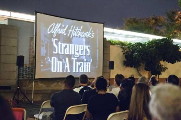 We returned to film with an outdoor screening of the classic Strangers on a Train (how could we resist?!), a co-presentation with Echo Park Film Center.
