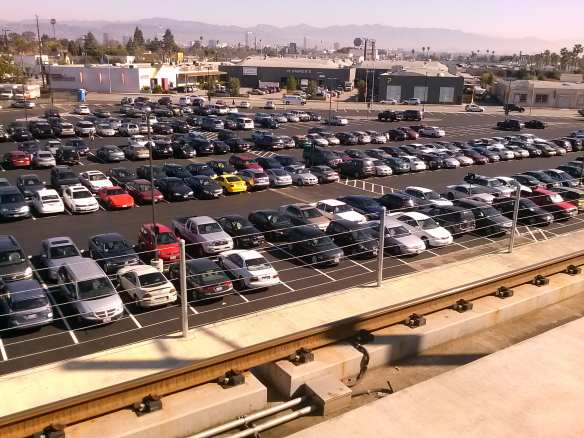 Parking at the Expo Line's Culver City Station. Photo by Metro.