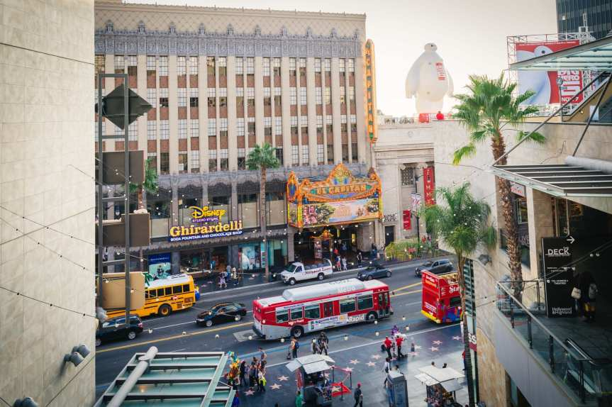 ART OF TRANSIT: Go Metro to Hollywood Boulevard. Metro Lines 212, 217 and 780 will get you there on the bus or take the Metro Red Line. Click on the photo to see Metro timetables and maps. Photo by Steve Hymon/Metro.