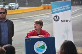 Metro Board member and L.A. County Supervisor Sheila Kuehl.