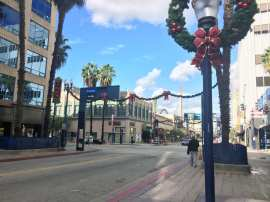 Pine Avenue in downtown Long Beach.