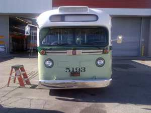 Photo of the replica bus that will be used for the Kingdom Day Parade. (Photo: Metro)