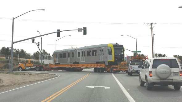 Palmdale Tranporting Rail Car
