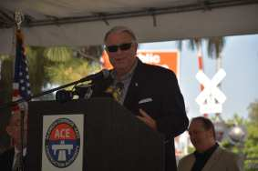 L.A. County Supervisor and Metro Board Member Don Knabe speaks at the groundbreaking.