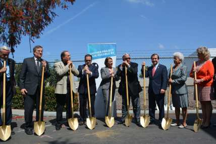 Officials at the groundbreaking ceremony.