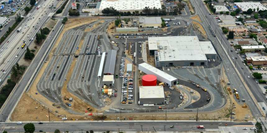 An aerial view of the new operations campus taken recently.