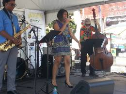 Songstress Mekala Session shows her range at the 2014 event. (CAJF Facebook page)