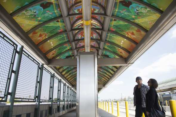 New artwork by Christine Nguyen at Silver Line Manchester Station