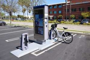 A sample Metro bike share kiosk.
