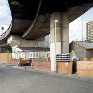 Life under a bridge in London. Photo by GISELA ERLACHER, via Newyorker.com.