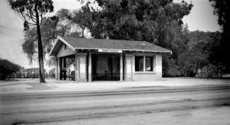Pacific Electric Arcadia Station at 1st and St. Joseph in 1951. Photo: Alan K. Weeks.
