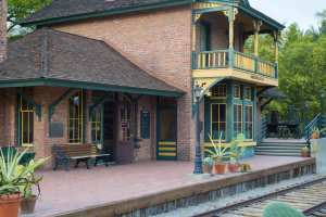 The old Sierra Madre station, now located at the Arboretum in Arcadia. Photo by Steve Hymon/Metro.