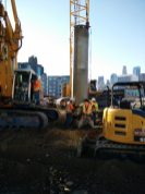 Pile drilling at 1st/Central.