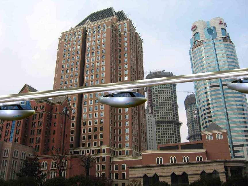 Rendering: skyTran.