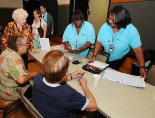 Staff with Seniors