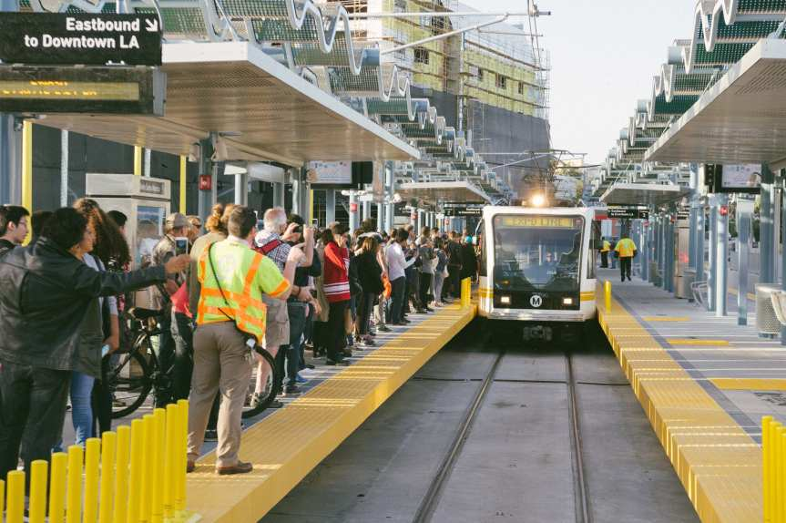 Remember when the Expo Line to Santa Monica was a novelty? Those days appear to be o-v-e-r. Photo by Steve Hymon/Metro.