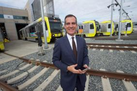 Los Angeles Mayor and Metro Vice Chair Eric Garcetti.