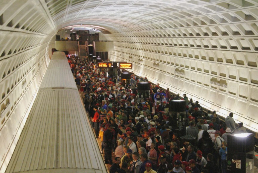 The Washington Metro's Navy Yard Station that serves the Senators' ballpark. Photo: Wikipedia.