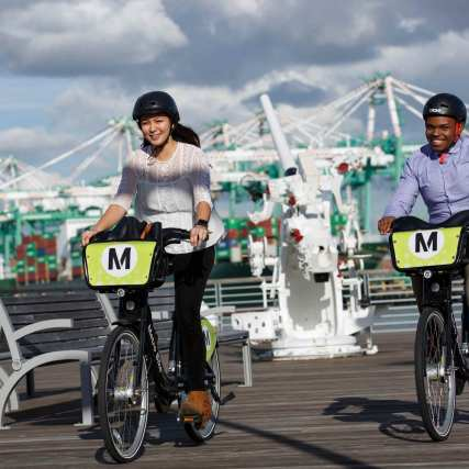 Bike share at the Port of Los Angeles.