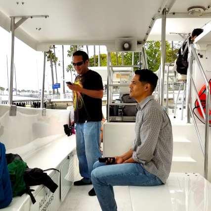 Nice, sedate ride on a very clean boat.