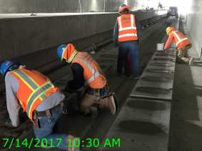 Working in the trench next to LAX.