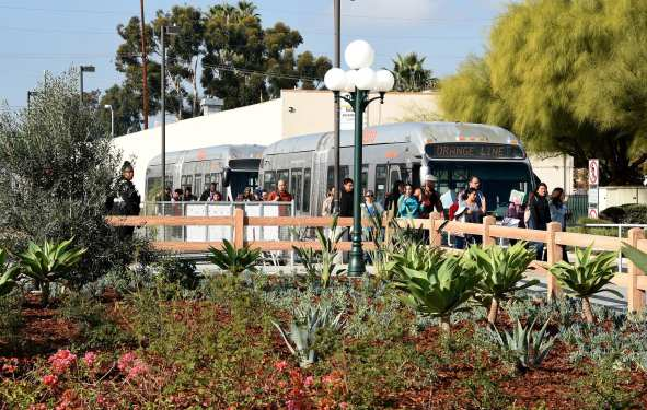 Lankershim Depot Plaza Landscaping Project Ribbon Cutting