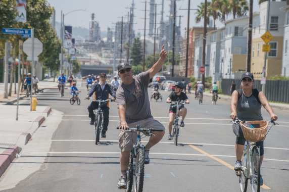 The San Pedro meets Wilmington CicLAvia in 2017. Photos by Steve Hymon/LA Metro.