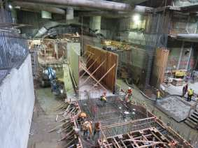 Ongoing work this winter at the Historic Broadway Station.