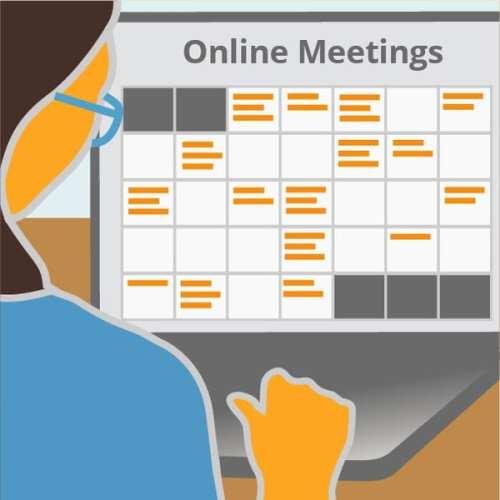Calendar of Online Events, Schedule of public meetings