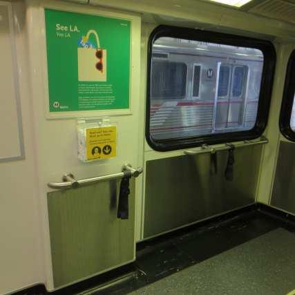 mask dispenser on rail car