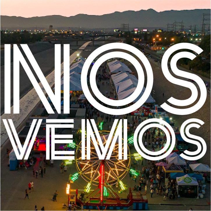 Nos Vemos project graphic featuring a photo from the 2019 SELA Arts Festival. Photo courtesy of LA County Department of Public Works.