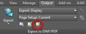 print AutoCAD drawing to PDF