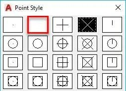 All about Point and Point style in AutoCAD