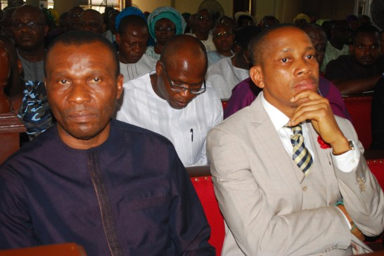 L-R Mr.Uguru Usani, minister of Niger Delta Affairs and Pastor Oluseyi Malomo