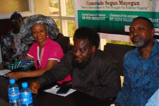 Mr.Abosede Ransome Kuti, Dr. Femi Aborisade and Barrister Malachy Ugwummadu