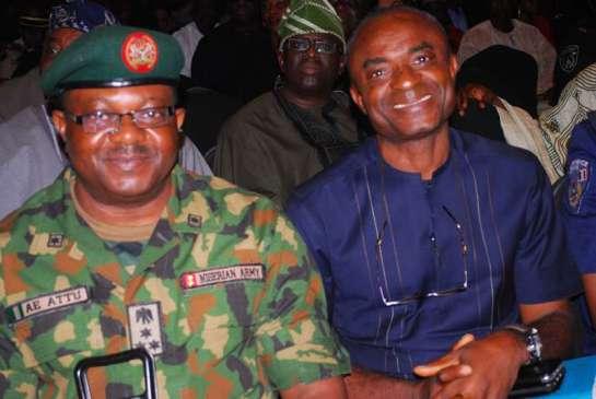 Brig-Gen A.E Attu and Chief Charles Odunukwe