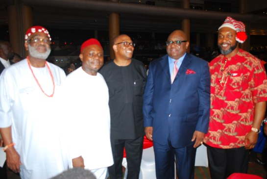 Chief Ben Obi, Dr.Chika Okafor, Mr. Peter Obi, Dr. Obi Ezeude and Mr. Fred Osita Chidoka