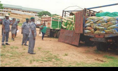 Impounded Truck load Of Rice By FOU, Zone A