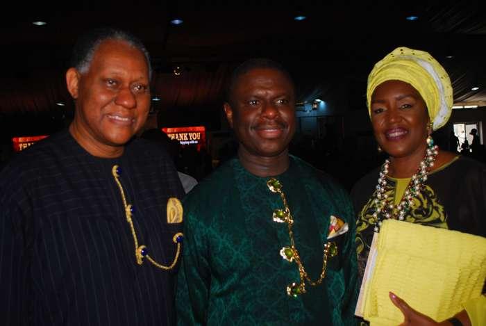 Mr. Odein Ajumogobia, Mr.Dagogo Peterside and Mrs.Awuneba Ajumogobia