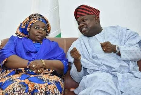 Governor Akinwumi Ambode and Dr. Idiat Adebule
